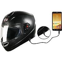 Steelbird SBA-1 7Wings Hands Free Dashing Full Face Helmet with Plain Visor … (LARGE 600 MM, BLACK)