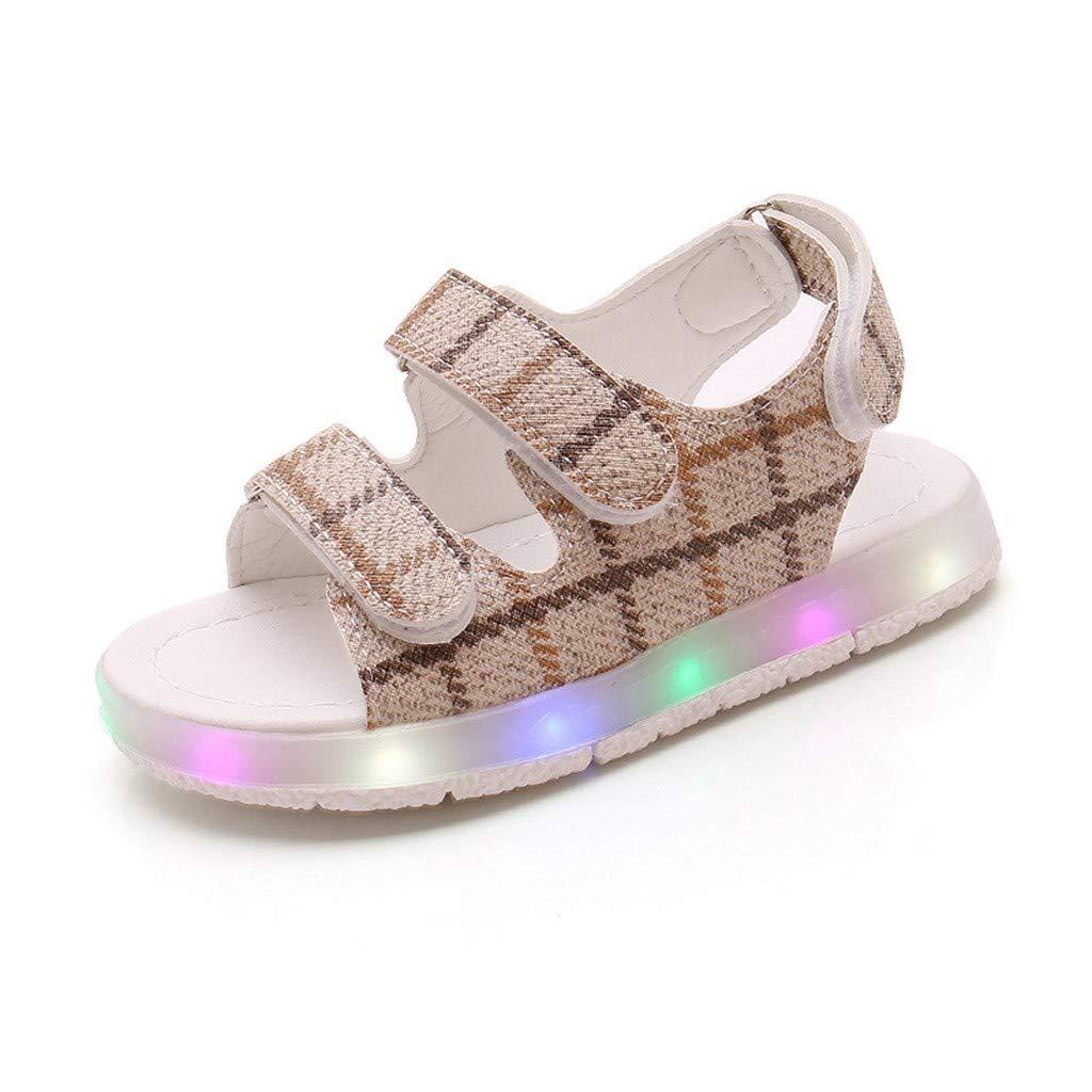 Toddler Kids Mesh Light Up Sandles,Summer Toddler Kids Sport Boys Girls Baby Sandals LED Luminous Shoes Sneakers