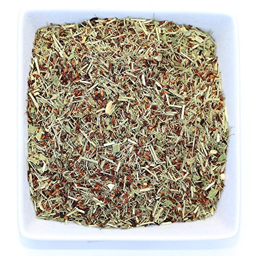Tealyra - French Lemon Ginger - Rooibos - Honeybush - Lemongrass - Red Bush Herbal Loose Leaf Tea Blend - All Natural Ingredients - High Antioxidants - Caffeine-Free - 220g (8-ounce)