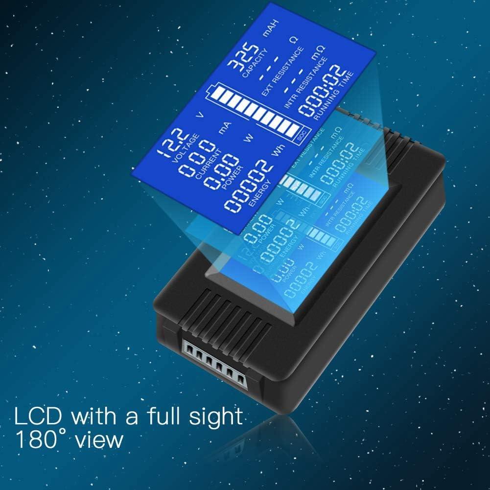 Verbreitet f/ür 12 V // 24 V // 48 V Batterien//Auto Batterien SNOWINSPRING Batterie Monitor Messger?T LCD Anzeige Digitaler Strom Spannung Solar Strommessger?T Multimeter 0-200 V 0-300 A