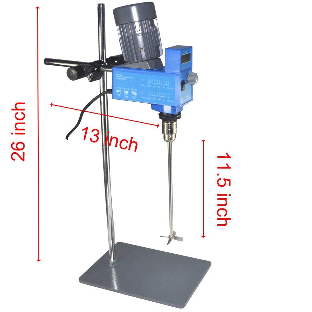 Lab Digital Overhead Stirrer Lab Mixer Heavy Duty Overhead Laboratory Mixer industrial liquid mixer 0~10000mpas, 20L, 2 Years Warranty by XZBELEC (Image #6)