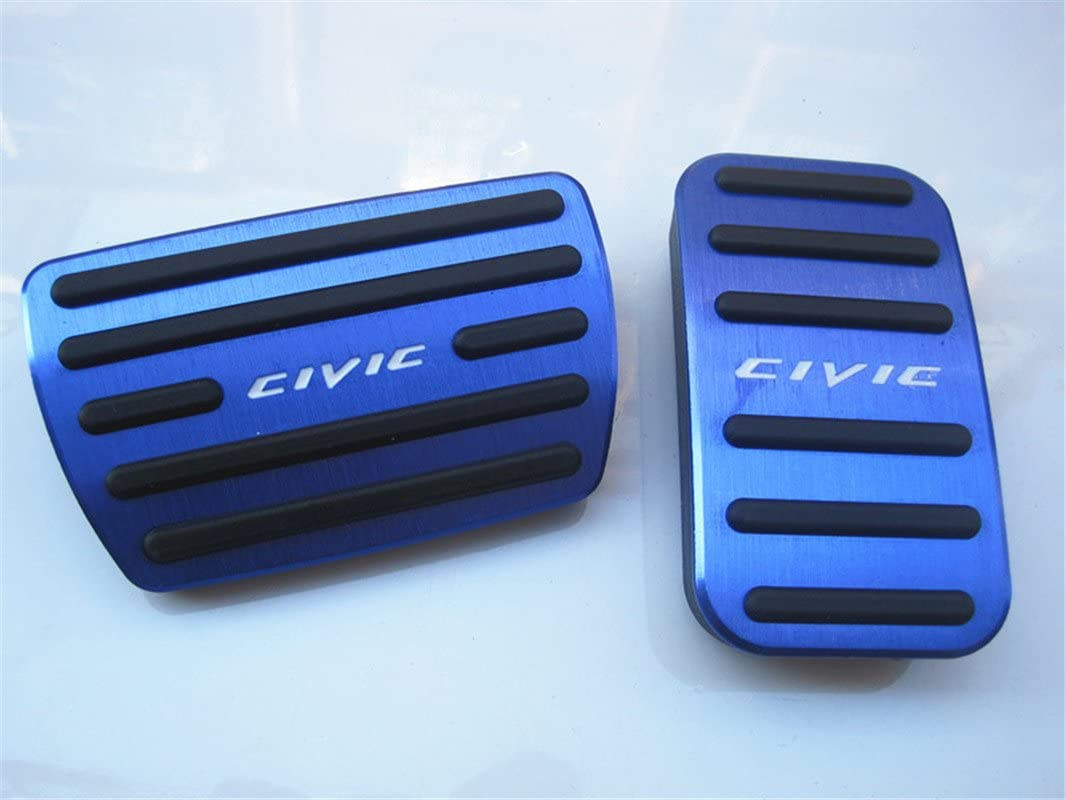 For Honda Civic Brake Foot Rest Pedals Set Automatic AT No Drill Gas Non-Slip