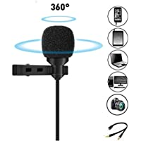 Dynamic Enterprises 3.5mm Clip Microphone For Youtube, Collar Mike For Voice Recording, Lapel Mic Mobile, Pc, Laptop, Android Smartphones, Dslr Camera