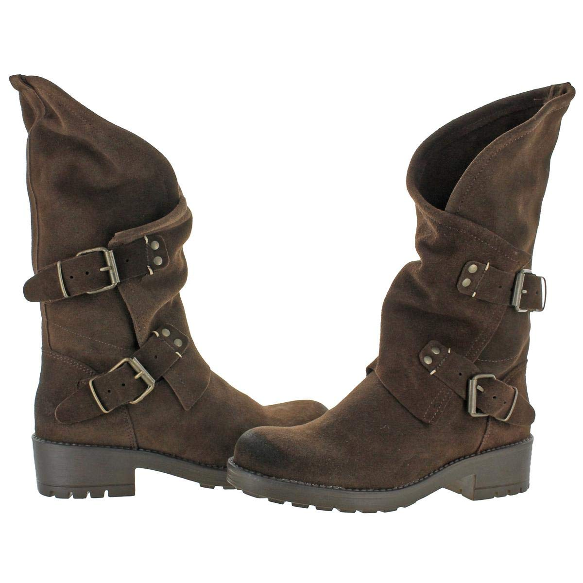 d85a45ba04d6 Coolway Alida - Brown Suede Slouchy Dual Buckle Boot  Amazon.ca  Shoes    Handbags