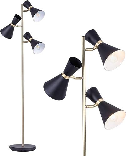 NALATI 3-Light 63″ Tree Floor Lamp,Industrial Style Standing Reading Light