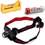 ThruNite TH10 Headlamp Flashlight 750 Lumen Single CREE XM-L2 U2 LED (TH10 XM-L2 NW + U1 +34001)
