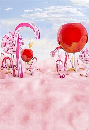 YongFoto 1,5x2,2m poliéster Fondos Fotograficos Pink Candy ...