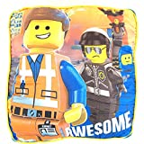 Lego Movie Large Pillow with ''Awesome'' Emmett and Bad Cop 16'' x 16'' x 5''