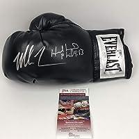 $274 » Autographed/Signed Mike Tyson & Evander Holyfield Black Everlast Boxing Glove JSA COA