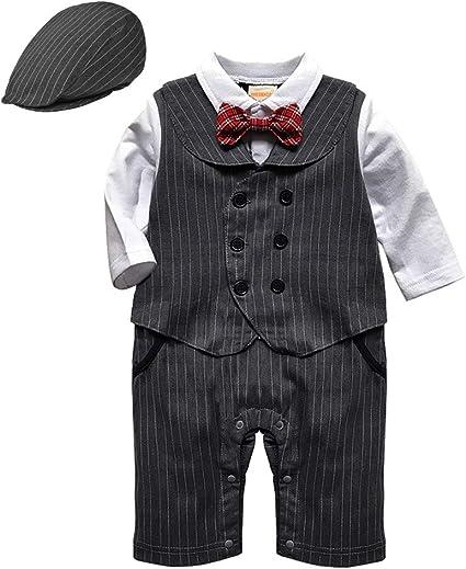 Amazon Wesidom ベビーフォーマルストライプスーツ 赤ちゃん 男の子