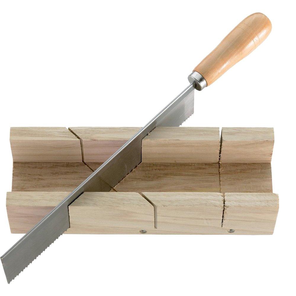 CircumPRO 4333097004290 Boîte Bois avec scie à Onglet, Beige/Argent, 250 x 60 x 38 mm