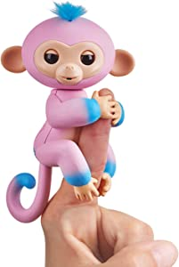 Fingerlings 2Tone Monkey - Candi (Pink with Blue Accents) - Interactive Baby Pet
