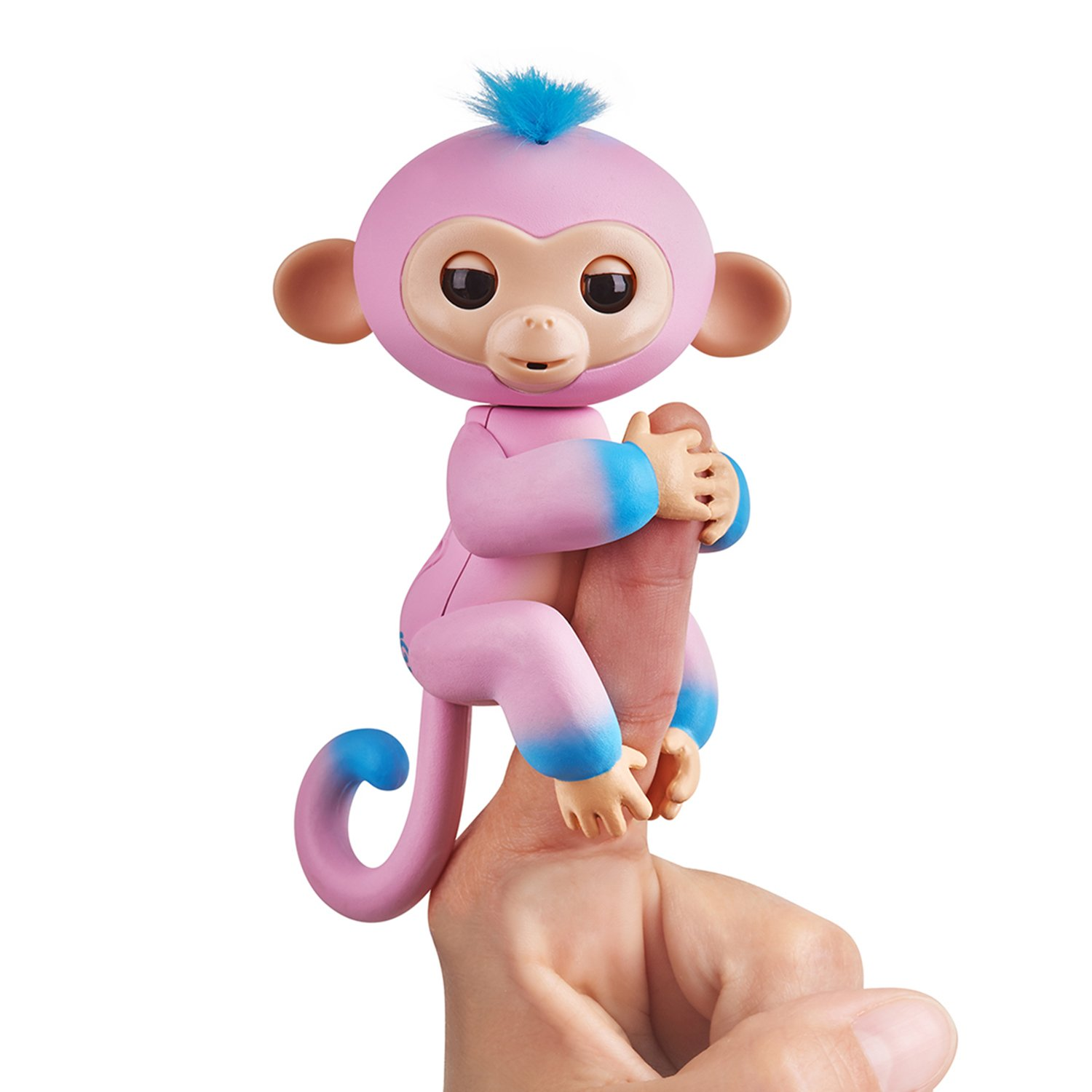 Fingerlings 2Tone Monkey - Eddie (Seafoam Green with Blue accents) - Interactive Baby Pet - By WowWee JAZWARES 3724