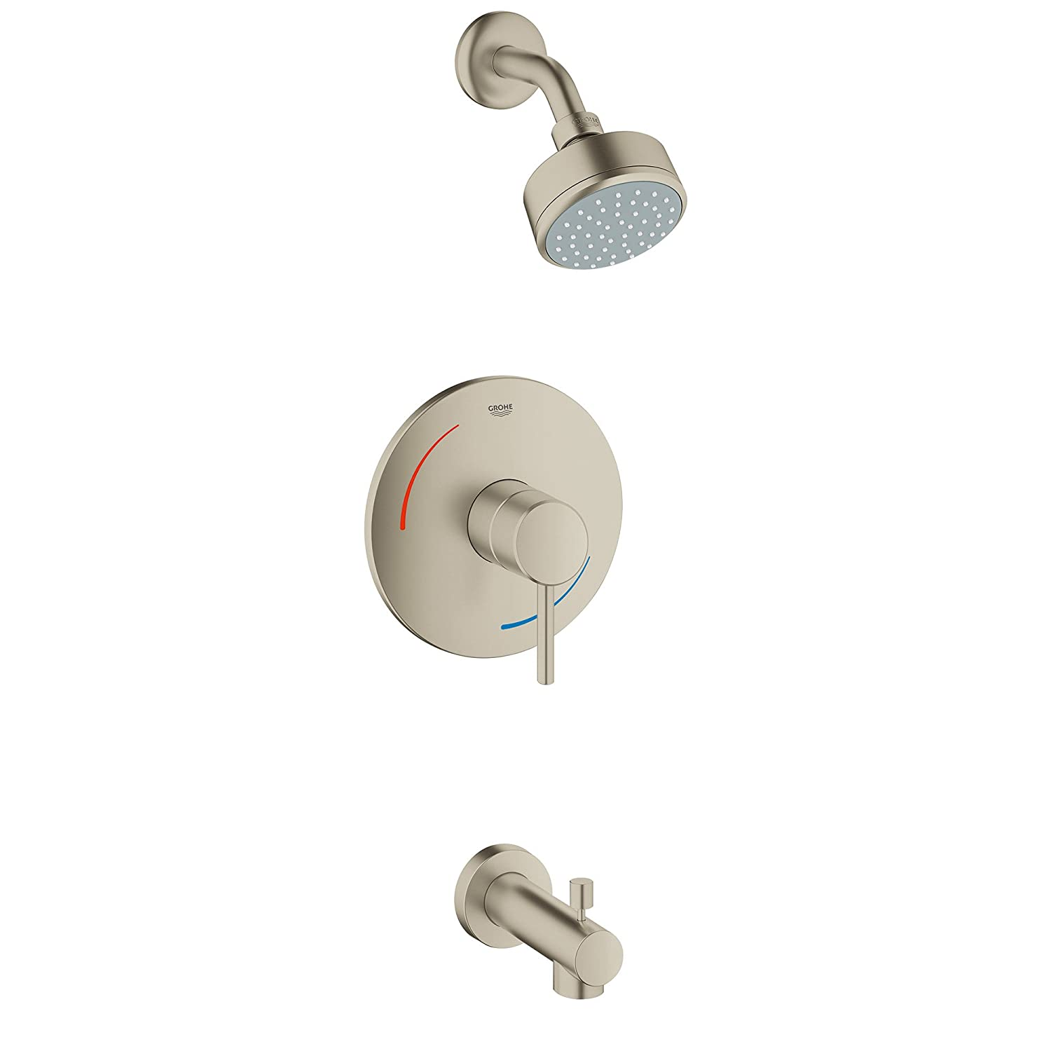 GROHE 35073EN1 Concetto Single-Handle Single Spray Tub & Shower Faucet In Brushed Nickel