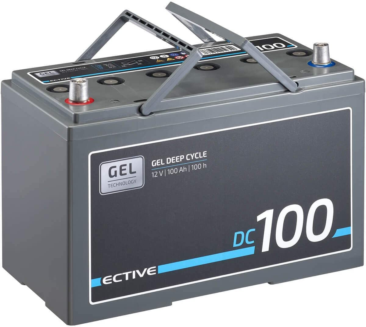 Ective 100ah 12v Gel Versorgungsbatterie Dc 100 Deep Cycle Solar Batterie Vrla Zyklenfest Wartungsfrei Auto