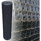 Garden Chicken Wire 12x12 mm 10 m long 100 cm high 1.05mm Mesh galvanised fencing Black PVC