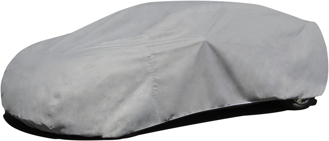 Budge RB-4 Rain Barrier Car Cover Gray Size 4: Fits up to 19' Outdoor, Breathable