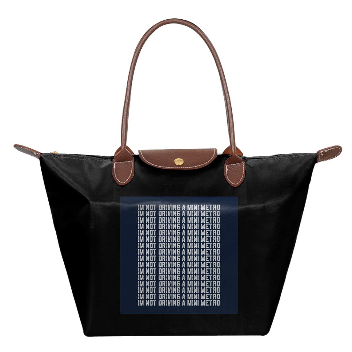 Alan Partridge Im Not Driving A Mini Metro Waterproof Leather Folded Messenger Nylon Bag Travel Tote Hopping Folding School Handbags