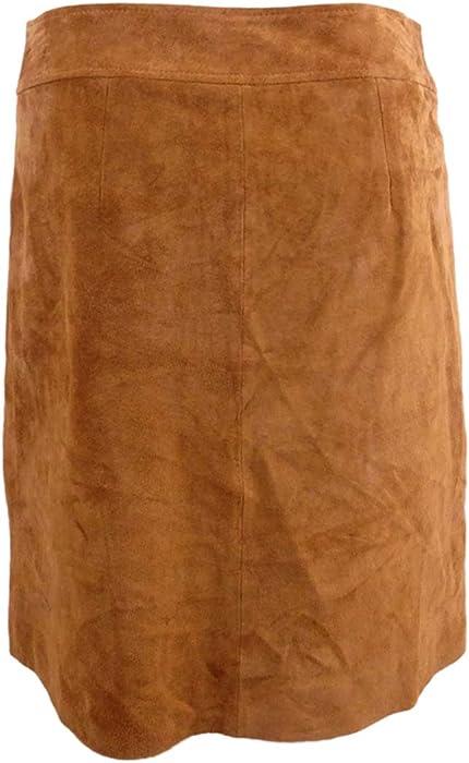 73309358c INC Women's Suede Applique Mini Skirt (0, Brown) at Amazon Women's ...