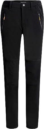 Camii Mia Womens Winter Outdoor Slim Windproof Water Resistant Fleece Lined Camping Ski Snow Hiking Pants