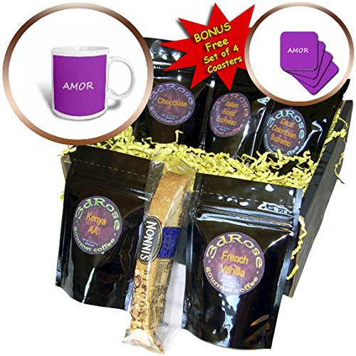 3dRose Kultjers Love - Amor - Coffee Gift Baskets - Coffee Gift Basket (cgb_282732_1) by 3dRose