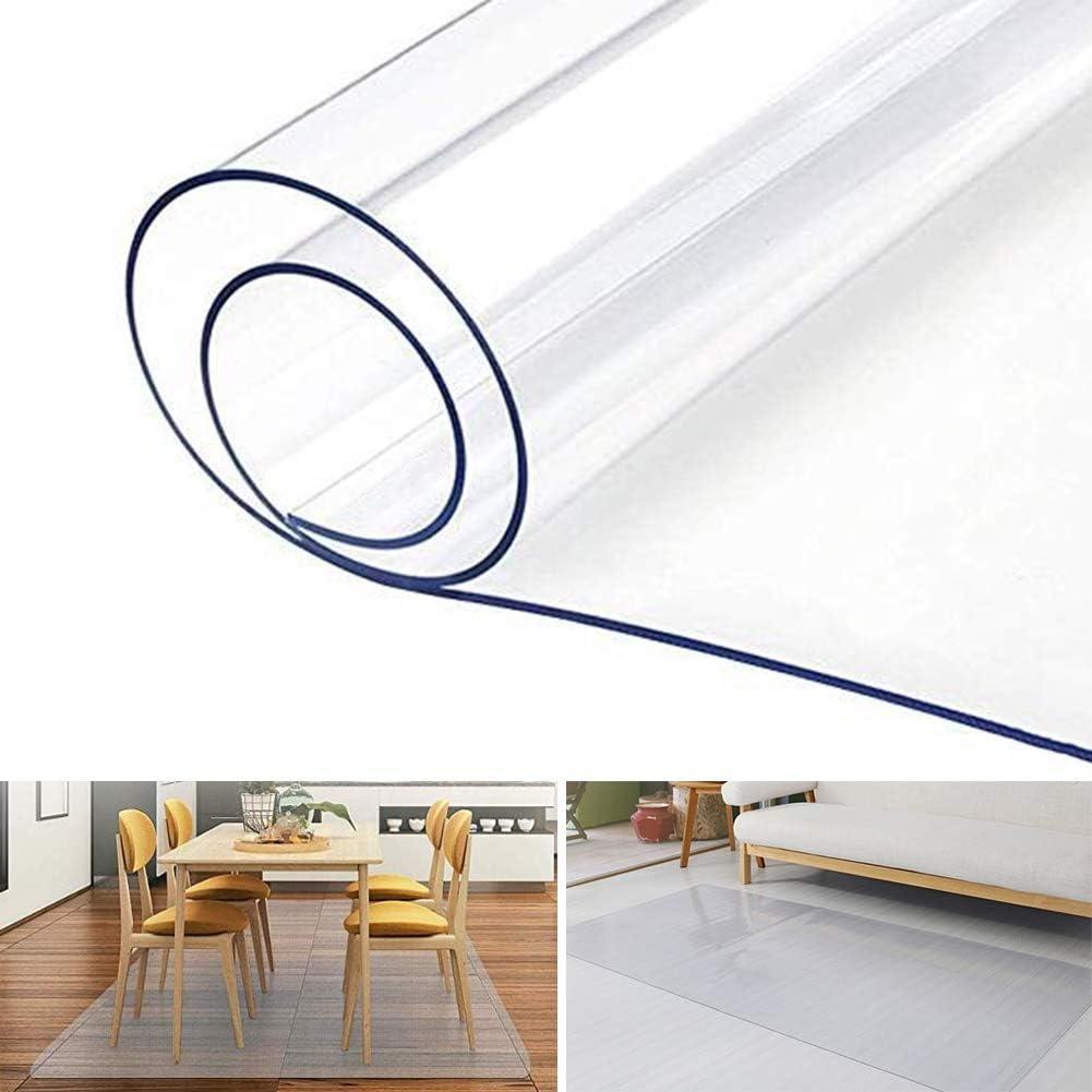 Vinile PVC Rettangolare Tappeto Protettore for Pavimenti Duri Color : 0.8mm, Size : 40x80cm WUZMING Tappeto Salvapavimento Antiscivolo Trasparente Protettore del Pavimento 20 Taglie