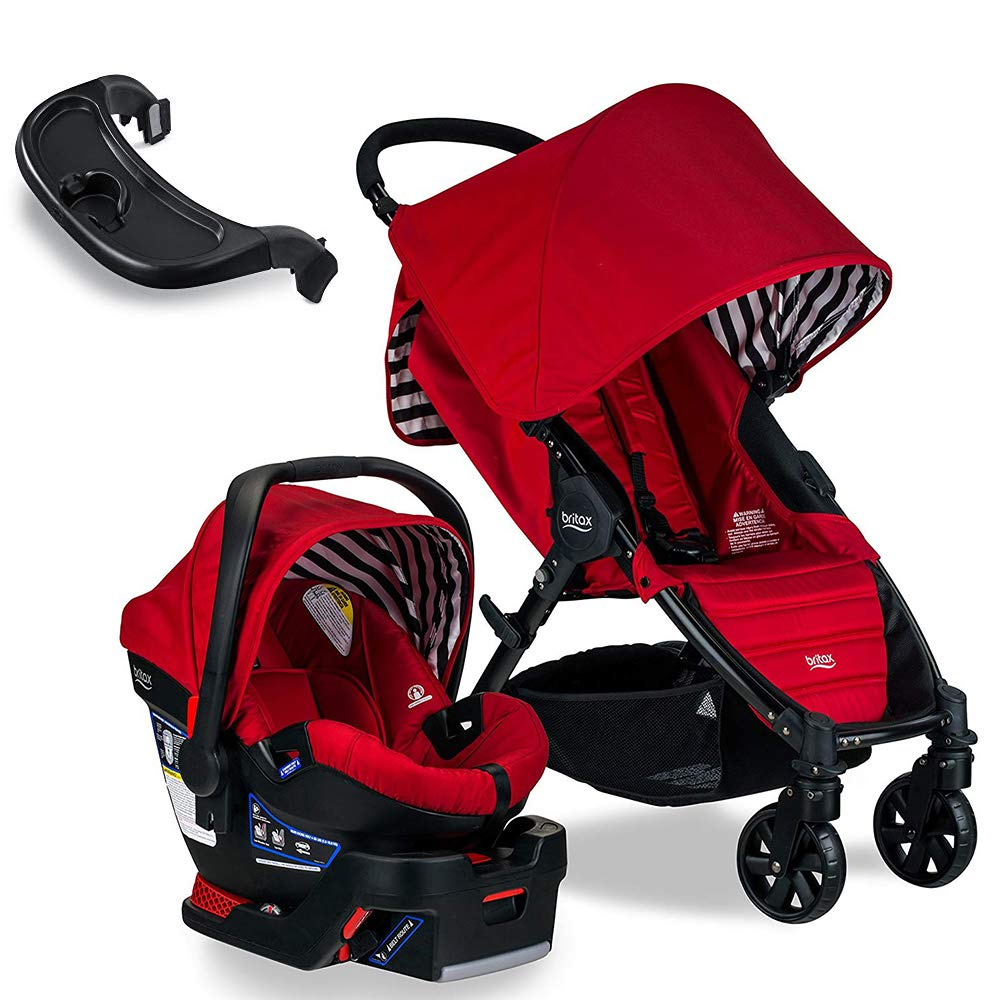 Britax Pathway & B-Safe 35 Travel System, Cabana with Tray Bundle by BRITAX