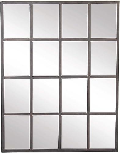 Deco 79 53394 Wall Mirror, Reflective Gray