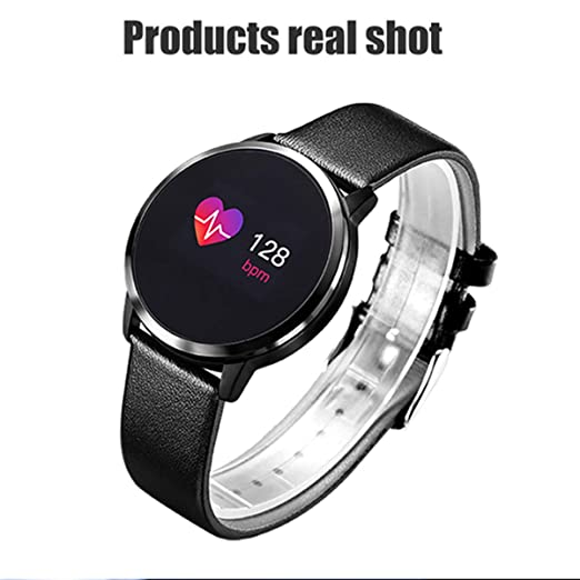 Smart Watch Q8 Plus Rose OLED Pantalla a Color Smartwatch Mujeres ...