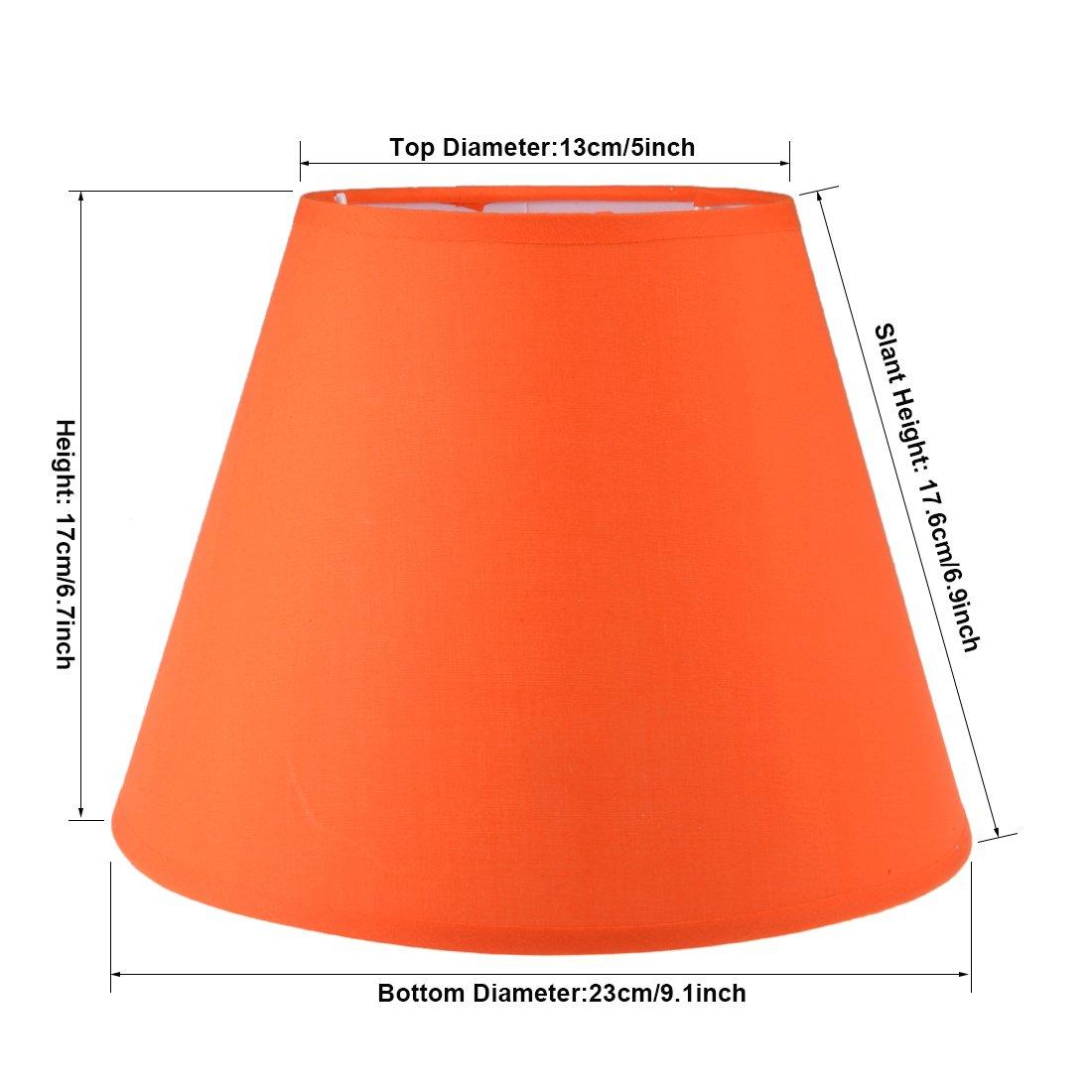 sourcing map paralumi Lampada da terra a luce ombra coprire 5.1x9x6.7 pollice arancione