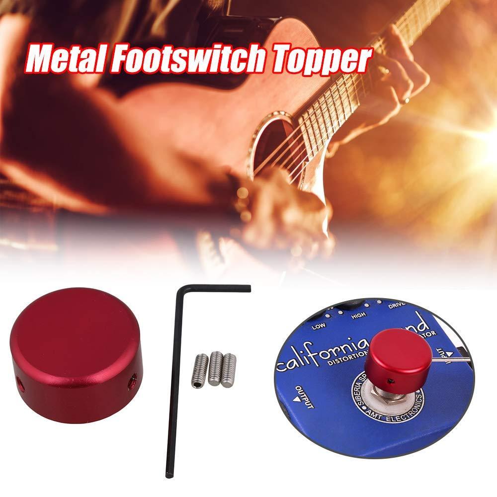 Bulufree Footswitch Topper Cappuccio di protezione per pedale effetto chitarra in metallo Footswitch Topper Cappuccio per chiodo con chiave