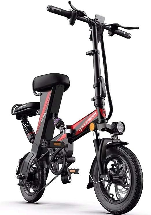 XXZQQ Bicicleta eléctrica Plegable, Bicicleta de aleación de ...