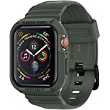 Spigen 062CS26016 Rugged Armor Pro Designed for Apple Watch Case for 44mm Series 5 / Series 4,Military Green