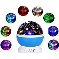 Luminária Projetor de Estrelas Abajur Galáxia LED Giratória