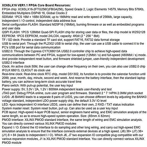 Amazon com: XILINX SPARTAN6 XC6SLX16 Microblaze SDRAM USB2 0 FPGA