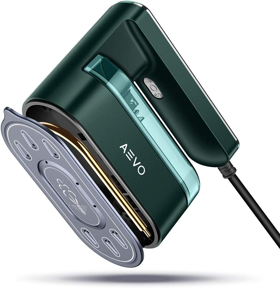 AEVO 2-in-1 Portable Steam Iron for Clothes [Horizontal and Vertical Ironing] [Powerful Handheld Garment Steamer] [40-Second Fast Heating] [Overheating Protection] [Consistent Temperature]