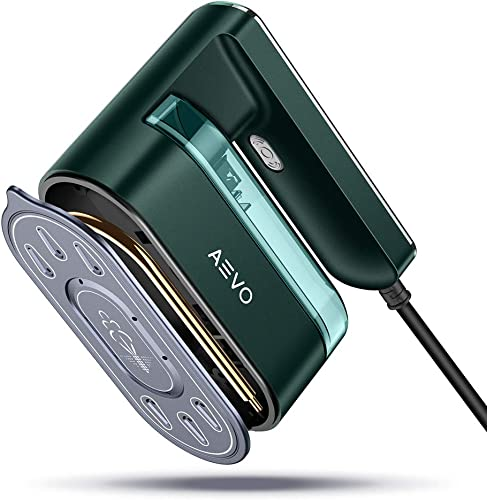 AEVO 2-in-1 Portable Steam Iron for Clothes Horizontal and Vertical Ironing Powerful Handheld Garment Steamer 40-Second Fast Heating Overheating Protection Consistent Temperature