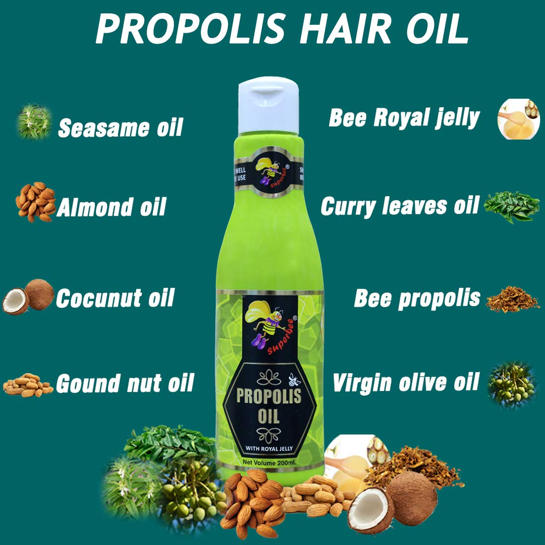 Super bee Propolis Oil with Royal Jelly, 200 ml