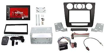 Manual Aire Acondicionado Negro 2-DIN Marco de Radio BMW 1er