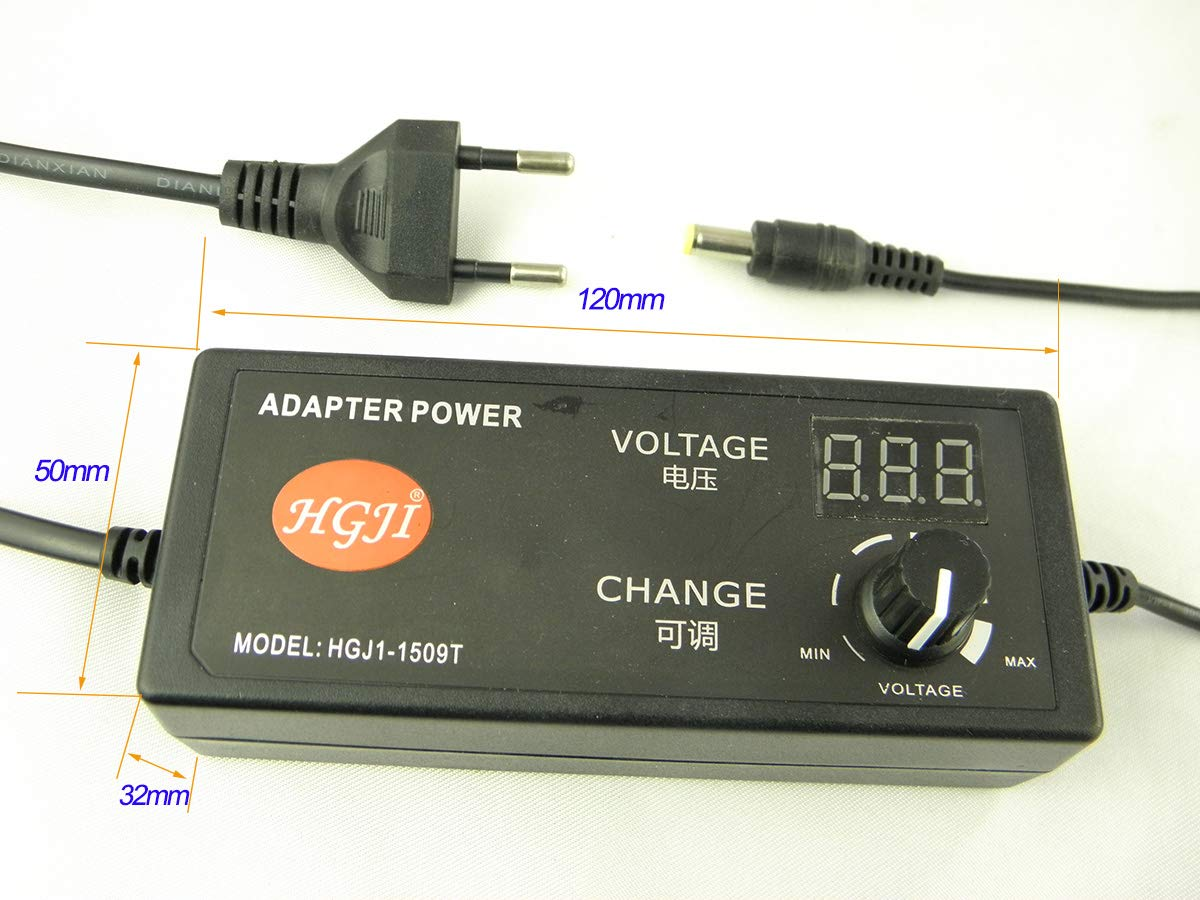 Switching Power Supply Output DC 3-24V 2.5A Input AC 220V Multi-function Adjustable Voltage Power Adapter