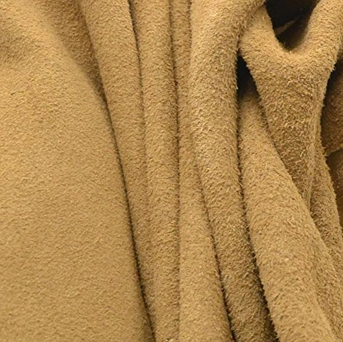 Suede 1/2 Chaps (Branded Leather Chap Cow Side Hide Tan 16.3 Square Foot 3-3 1/2 Ounces Suede-1)
