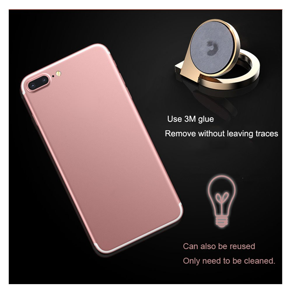 Cell Phone Finger Ring Loop Holder Stand Car Mount Grip 360/°Universal Zinc Alloy with 3M Adhesive For Iphone Samsung or Other Cell Phones and Pad. Touch Ring 4351515949 Gold and Rose Gold