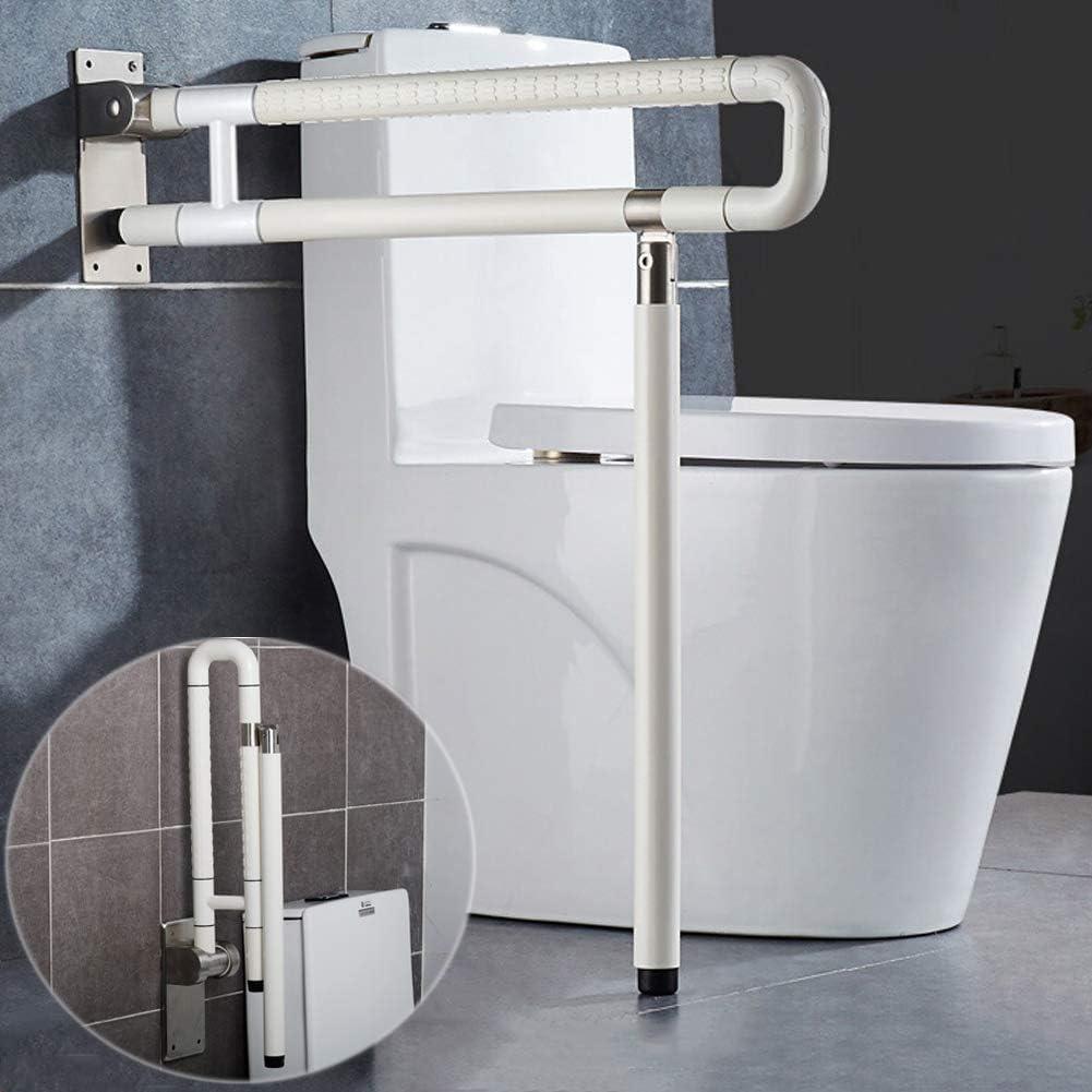 MEETWARM Handicap Rails Foldable Toilet Grab Bar Handles Bathroom Seat Support Bars Flip-Up Grab Arm Hand Grips Safety Handrails for Elderly Disabled Pregnant Anti Slip Shower Assist Aid: Home Improvement