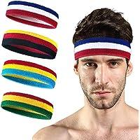 Turbobm Zweetband, sport hoofdband, oefening & fitness polsbandjes, pols gestreepte zweetband, pols zweetband…
