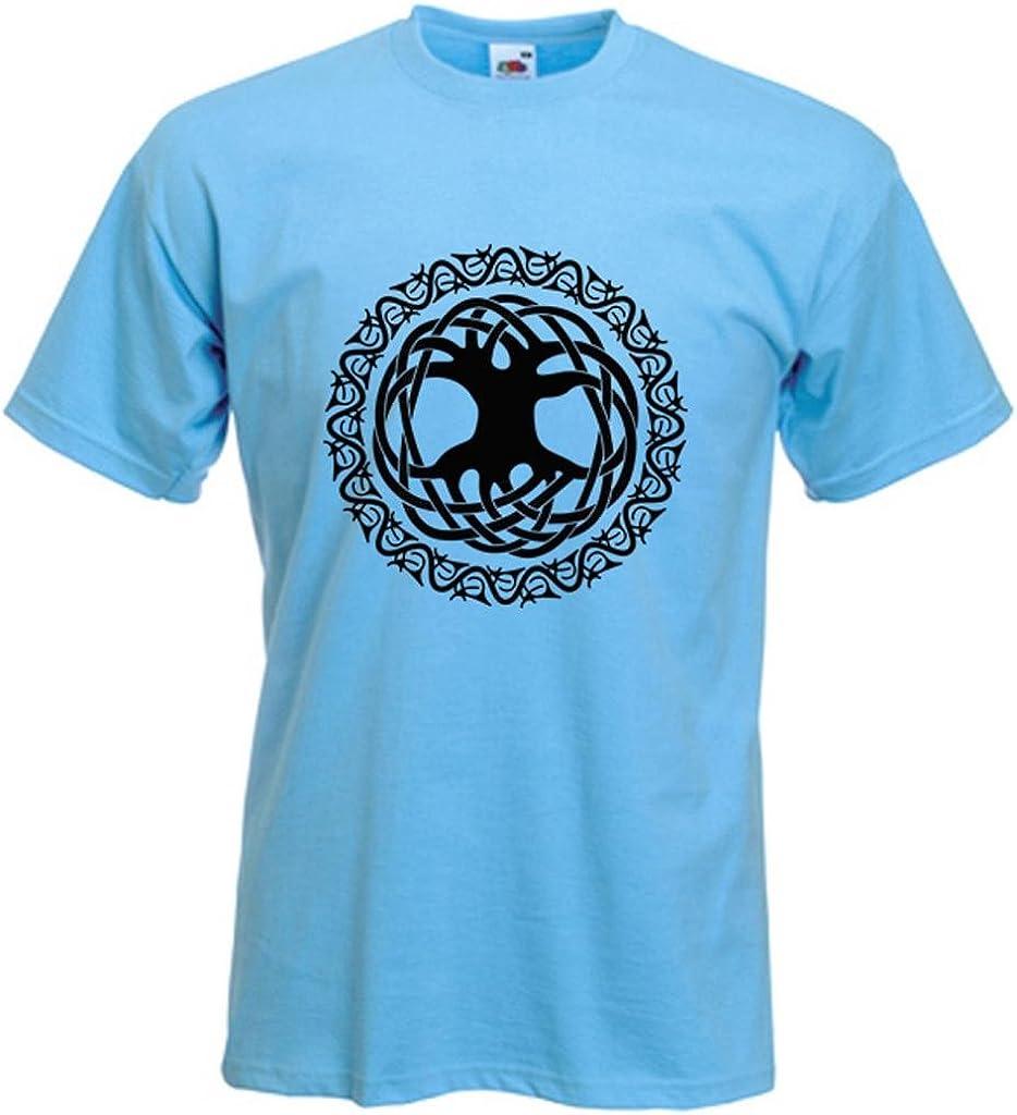 Diseño de símbolo celta para hombre del árbol de la vida T-camiseta de manga corta (varios colores): Amazon.es: Ropa y accesorios