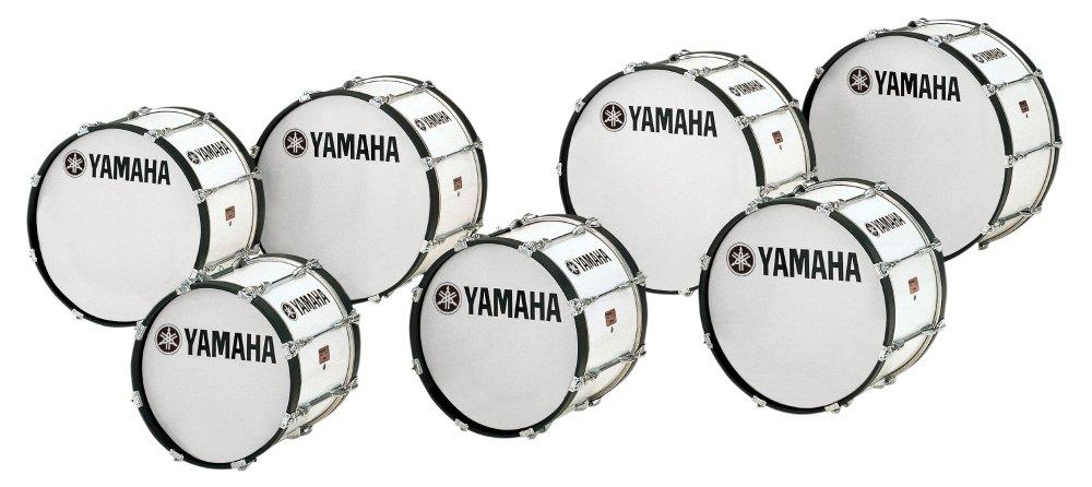 Yamaha Power-Lite Marching Bass Drum White Wrap 22x13 by Yamaha