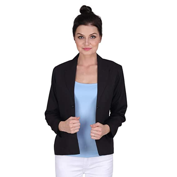 a71bde8b7de KA Fashion Satin Solid Blazer for Women  Amazon.in  Clothing ...