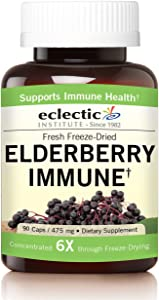 Eclectic Elderberry Immune Freeze Dried Vegetables, Green, 90 Count