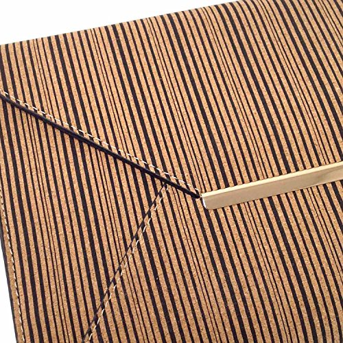 Striped Black Clutch Envelope Cork Casual 6qr76p