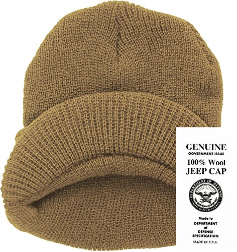 46d8ab514ad Amazon.com  Genuine GI Official Military Wool Cold Weather Winter Knit Hat  Jeep Watch Cap (Black)  Clothing